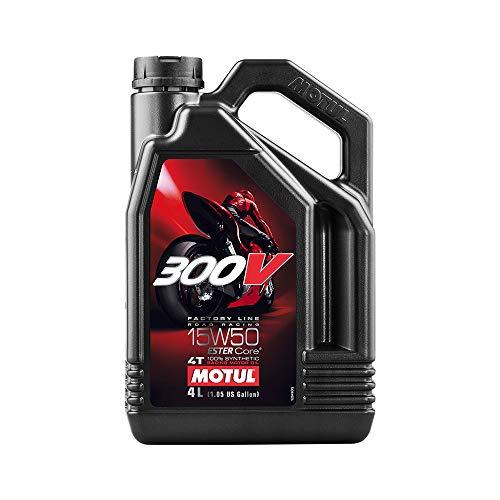 Motul 104129 300V 4T Factory Line Road Racing, 15 W-50, 4 L