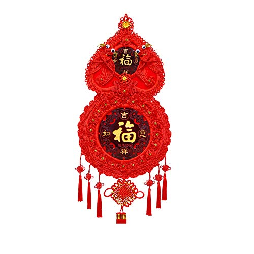 ZHANGJINYISHOP2016 Tassels for Crafts High-end Chinese Knot Pendant Living Room Mahogany Blessing Character Pendant Chinese Knot Decoration New Year Gift for Luck Wealth Health to Friends Family
