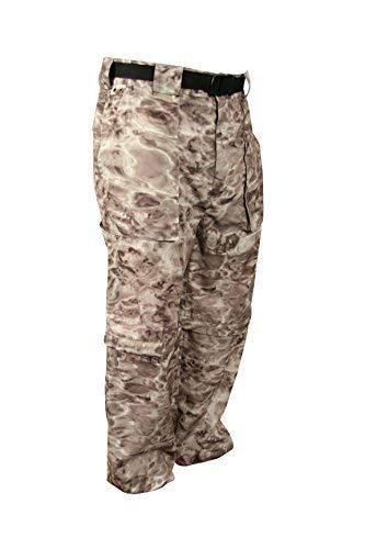 Aqua Design: Fly Fishing Mens Convertible Wading Pants Zip Off Legs Shorts: Pacific Sand: Size Medium