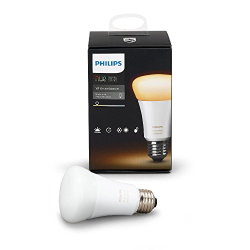 Philips Hue White Ambiance A19 10W Equivalent Dimmable LED Smart Bulb (Works with Alexa Apple HomeKit and Google Assistant)