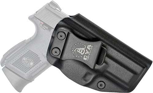 CYA Supply Co. Fits FN FNS 9 Compact Inside Waistband Holster Concealed Carry IWB Veteran Owned Company (Black, 007- FN FNS 9/40 Compact)