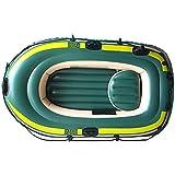 NEHARO Kayaks Exterior CLORURO DE POLIVINILO Barco Inflable Inflable del Barco 2 Personas Barco de Pesca Doble Barco Inflable Barco para la Playa (Color : Green, Tamaño : 230x130 cm)