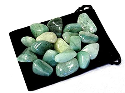 "Zentron Crystal Collection Tumbled Green Aventurine 1"" Stones (1/2 Pound)"