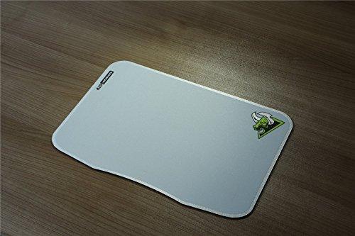 rantopad New GTREsterilla Grande Gaming Mouse Pads Ultra Slim con Base de goma antideslizante, Blanco