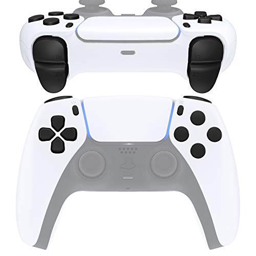 eXtremeRate Replacement D-pad R1 L1 R2 L2 Triggers Share Options Face Buttons for DualSense 5 PS5 Controller, Full Set Buttons Repair Kits with Tool for Playstation 5 Controller