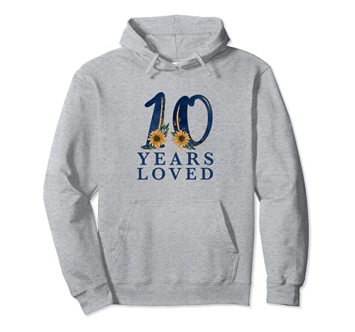 10 Years Old | 10th Birthday Party | 10 Years Loved Pullover Hoodie