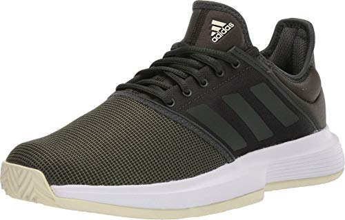 adidas Men's GameCourt Tennis Shoe, Black/Black/Black, 6.5 M...