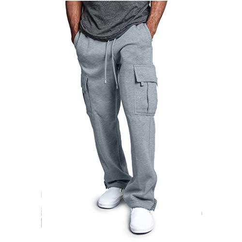 Zolimx Freizeithose Herren Plus Size gestrickte Sporthose aus Reiner Baumwolle Herrenhose einfarbige elastische Hosen Herren