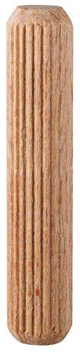 kwb Holzdübel 8 x 40 mm 028180 (40 Stk., Buchenholz, geriffelt, gefast)