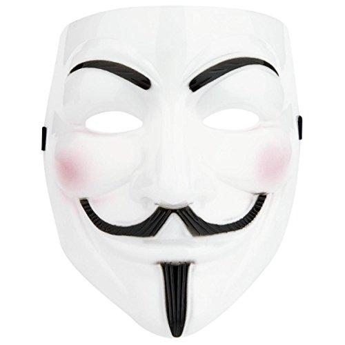 3 x Maschera Halloween V per Vendetta ANONIMUS