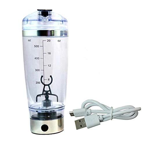 Botella eléctrica de la coctelera de la proteína 450ML portátil mezclador taza USB recargable Shaker tazas para albúmina polvo café leche