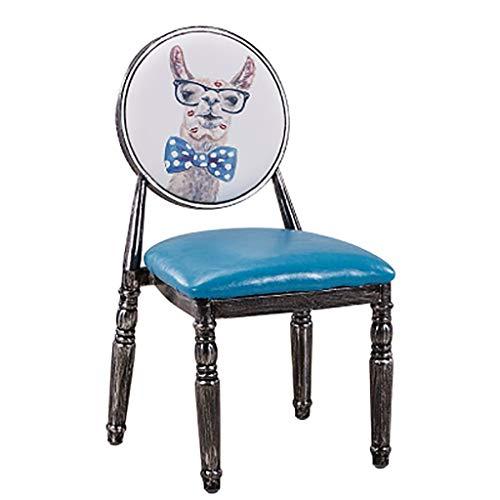 DCCYZ-YJ Stoelen Europese rugleuning krukken Retro stoelen Dressoir stoelen Strijkijzer eetstoelen Cafés Theewinkel Tafels en stoelen