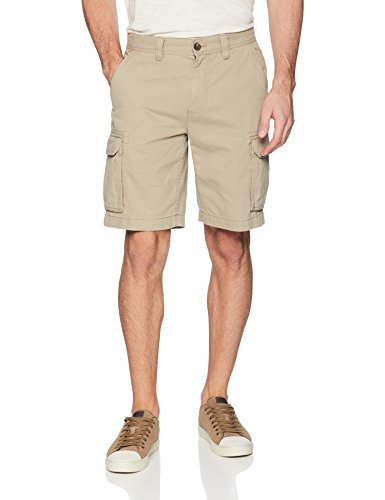 Amazon Essentials Men's Classic-Fit Cargo Short, Dark Khaki, 36