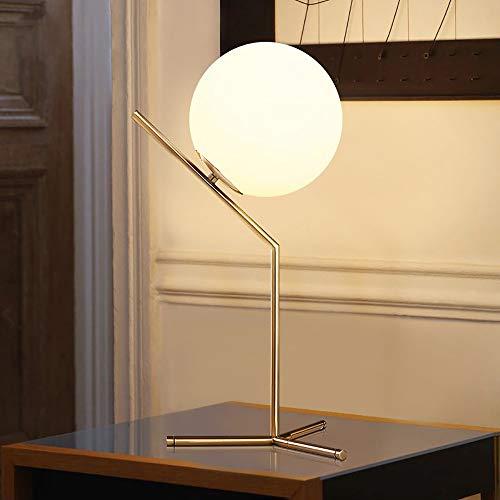 Faus Koco Lámpara de Escritorio Moderno Minimalista Dormitorio Lámpara de Cama Creativa Personalidad de Metal Decoración de Metal Leche Caliente Bola Bola Bola Lámpara de Mesa