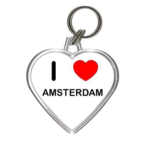 I Love Amsterdam - En Forma de corazón de plástico del Anillo dominante