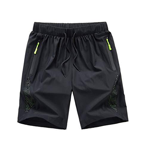 JJSPP Pantalones Cortos de Carga de los Hombres Hombre de Verano Casual Cintura elástica Pantalones Cortos Pantalones Cortos Masculinos Seco rápido al Aire Libre Transpirable Ropa