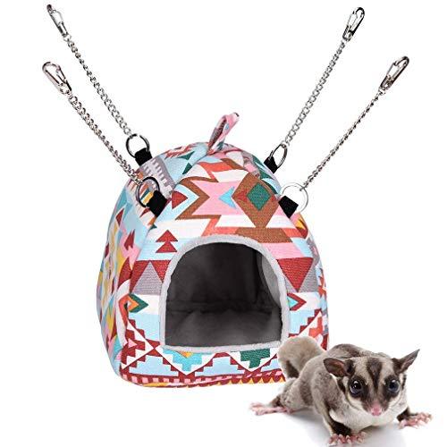 Opaltool Pet Hängematte für Maus Ratten Hamster Bett Hängematte Spielzeug zum Aufhängen für kleine Haustiere Eichhörnchen Igel Chinchilla-Haus Käfig