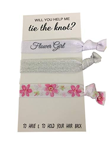 Flower Girl Gift, Flower Girl Hair Ties, Bridesmaid Jewelry Accessory-Makes The Perfect...