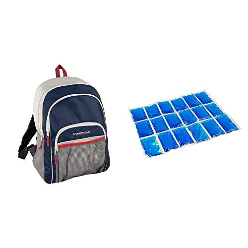 CAMPINGAZ Backpack - Nevera flexible, 14 l + Flexi Freez Acumulador Frio, Pack Mediano, Unisex, Azul, Medium