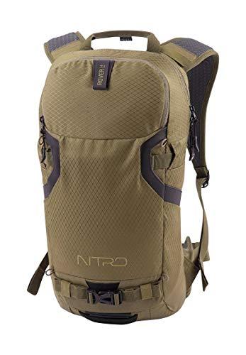 Nitro Snowboards Rover 14 Rucksack, Tourenrucksack, Riderbackpack mit Rückenprotektor , Leaf, 14L