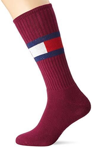 Tommy Hilfiger Unisex TH JEANS FLAG 1P Mütze, Schal & Handschuh-Set, Mehrfarbig (Bordeaux 070), 8.5 (Herstellergröße:043)