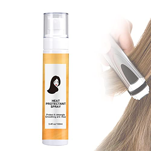 Heat Protectant Spray for Hair, Best Heat Protectant Spray, 100ml, Protect & Detangle Smoothing Anti-frizz, Refreshing and Moisturizing, Smooth and Shiny, Suitable for Women and Men
