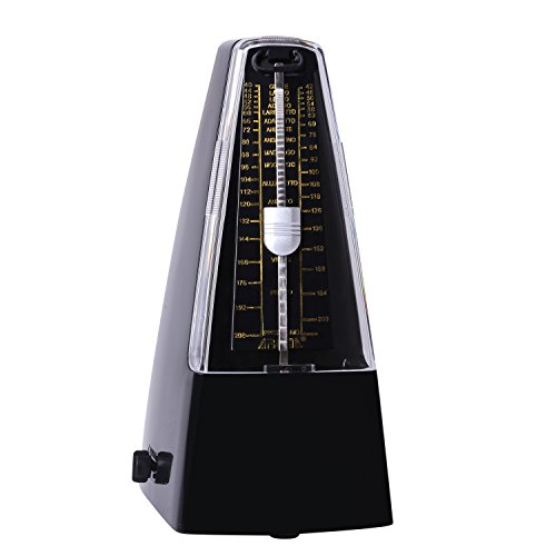 CAHAYA Mechanische Metronom Click Glocke Laut Sound/High Precision/für Klavier/Gitarre/Violine/Drum und andere Instrumente - Schwarz