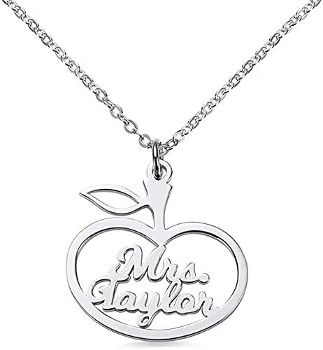 Lakabara 925 plata esterlina nombre collar fuente rizada regalo-collar nombre colgante joyería personalizada 14.0 oro