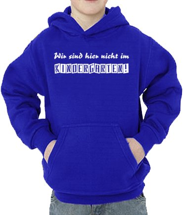 Touchlines Sweatshirt Wir Sind Hier Nicht im Kindergarten, Sweat-Shirt Mixte bébé, Bleu (Royal), 128 cm
