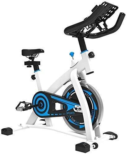 LYQ Indoor Oefenbike verstelbaar handlebars seat Resistance, Smart APP Control elektromagnetische spinning bike voor thuisgebruik met multifunctionele bracket met draagbare moving wiel