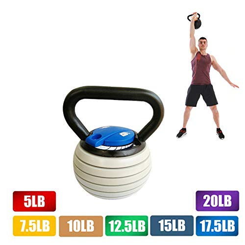 20 Lb /40 Lbs Kettlebell Weights Sets Adjustable Kettle Bells Weight Set with Handle, Strength Training Exercise, Home Gym Weights for Men Women,Blue,40LB