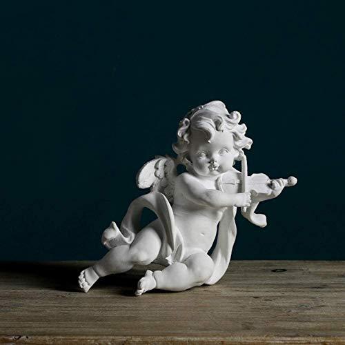 JJDSN Estatua de querubn Rezando, Escultura de ngel, decoracin de jardn Interior al Aire Libre, alas, Artes de ngel, Manualidades, Adornos de Arte conmemorativo-l 11x10x21cm