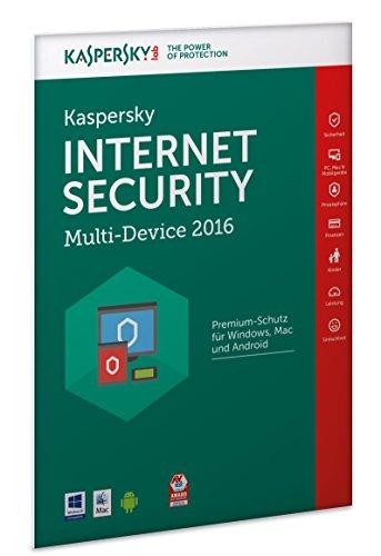 Kaspersky Internet Security Multi-Device 2016 - 3 Geräte / 1 Jahr (Frustfreie Verpackung)
