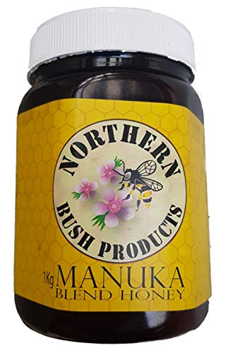 Manuka Honey, New Zealand Raw with Rainforest Nectar, Blended by Bees, BPA Free Big 2.2 Pound Jar. Ships from Farm gate to USA! -  Northland Bush Products, B 42