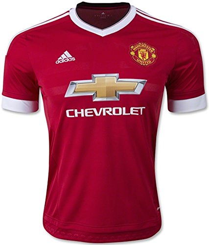 adidas Manchester United FC Home Authentic Jersey-Red, Unisex, Red