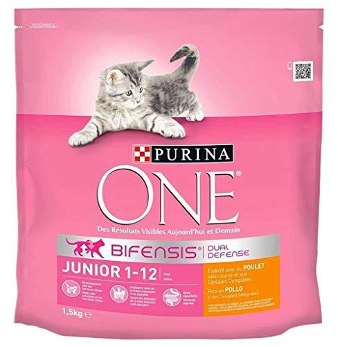 PURINA ONE Croquetas Chatea Junior 1-12 Meses 1,5 Kg De Pollo (Lote 3)