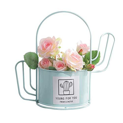 Fer Pot Fleur Décor Creative Belle Cactus en Forme Pot Fleur Ornements La Maison Jardin Décor