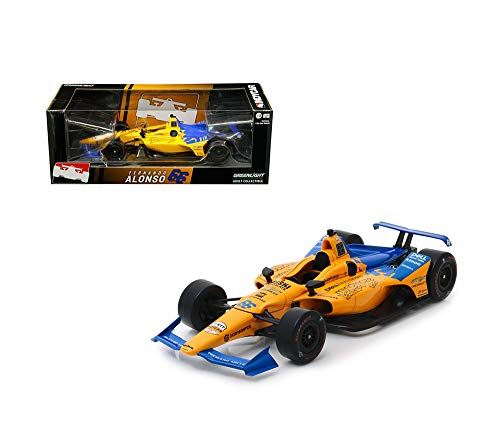 New DIECAST Toys CAR Greenlight 1:18 IndyCar 2019 MCLAREN Racing DELL Technologies MINDMAZE #66 Fernando Alonso 11061