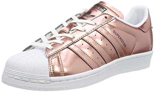 adidas Women's Superstar CG3680 Trainers, Brown/White, Size UK 8