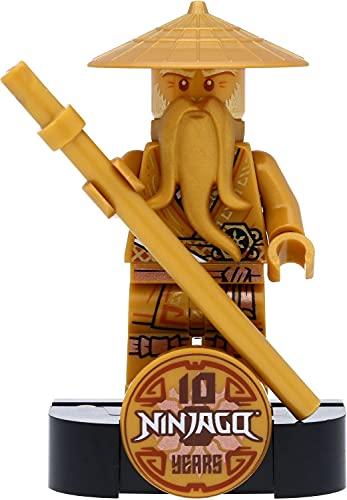 LEGO Ninjago - Minifigura de campeón dorado (Sensei Wu Legacy) con base