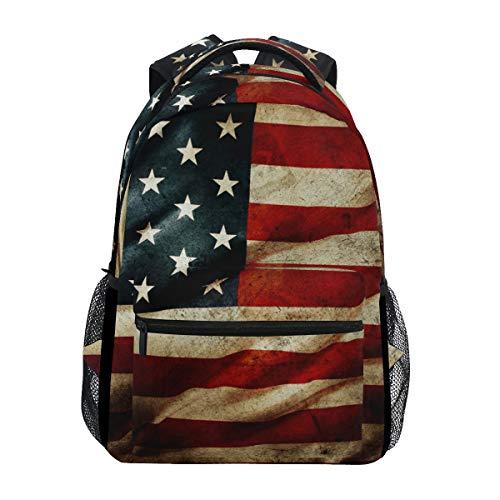 DXG1 Zaino Bandiera Americana Donne Uomini Teen Ragazza Ragazzo Sacchetto di Scuola Bookbag Casual Borsa Daypack Forniture