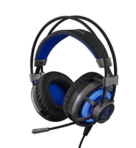 The G-Lab KORP Selenium - Cascos Gaming (Retroiluminación. Sonido Xtra Bass. Compatibles con PC, Xbox y PS4)