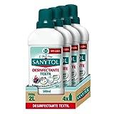 Sanytol – Desinfectante Textil, Elimina Gérmenes y Malos Olores de la Ropa Sin Lejía - Pack de 4 x 500 ML = 2L