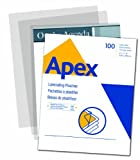 Apex Medium Laminating Pouches, Letter Size for 5ml Setting, 100 Per Pack (5242901)