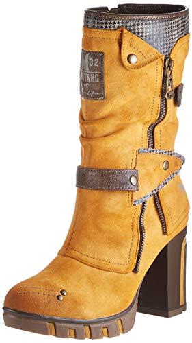 MUSTANG Damen 1363-602-6 Klassisch Halblange Stiefel Gelb,40 EU