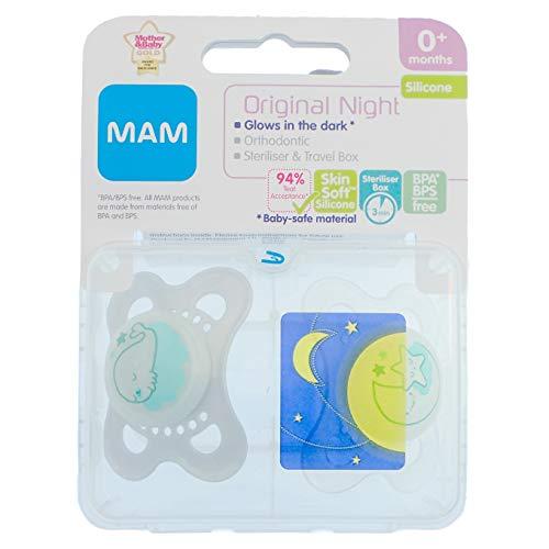 MAM UK MAM Night 0m+ Soother, 2 per pack (Green) B07P15FLDG 1枚目