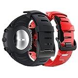 YPSNH Compatible para Correa Suunto Core Unisexo Correa Reemplazo de Silicona Suave Deportiva con Cierre de Metal para Suunto Core Smart Watch