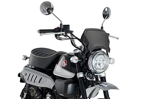 Puig Aluminium Frontale Plaat 3505N voor Honda Monkey 125 19' Zwart