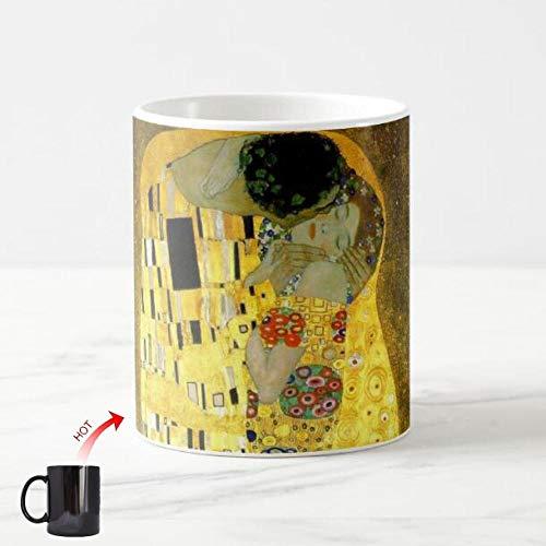 tywgb Neuheit Cool Gustav Klimt Der Kuss Kaffeetasse Farbwechsel Nouveau Vintage Art Milchteetassen Malen Kreative Valentine Gifts-The_Kiss