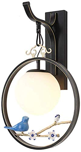Wandlamp compacte fluorescentielamp met traditionele factuur met laag stroomverbruik lampenkap van glas verschillende zout wandlampen 30x46cm Zwart